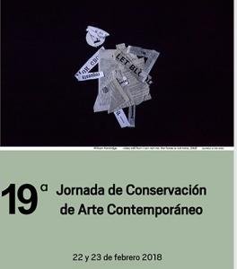 jornada de conservación de Arte Contemporáneo, 2018