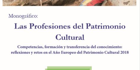 Monográfico 'Las Profesiones del Patrimonio Cultural' ya disponible