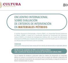 Encuentro internacional sobre evaluación de criterios de intervención en materiales pétreos