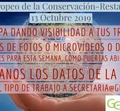 Día Europeo de la Conservación-Restauración 13 Octubre 2019