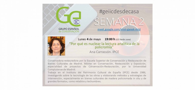 Ana Carrasson 4 de mayo GEIIC