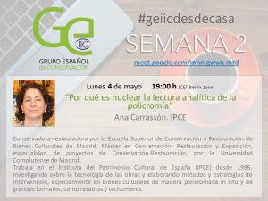 GEIIC Ana Carrassón IPCE Conferencia
