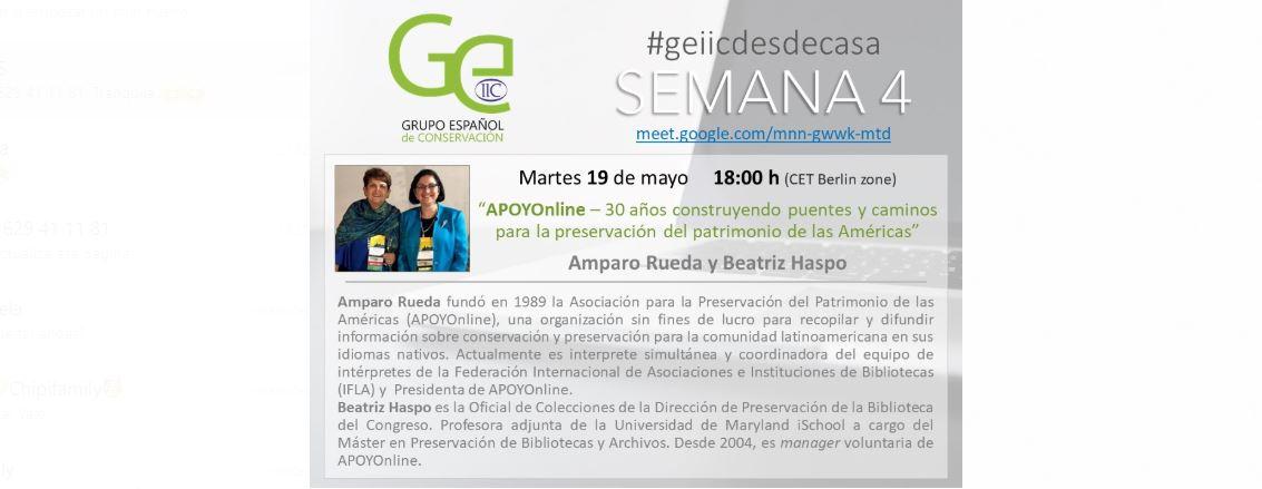 GEIIC desde casa APOYOnline Amparo Rueda y Beatriz Haspo p.