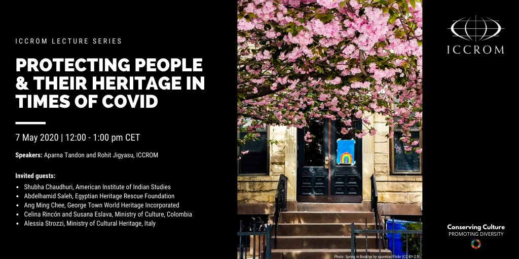 GEIIC. Webinar ICCROM Protecting people & their heritage in times of Covid