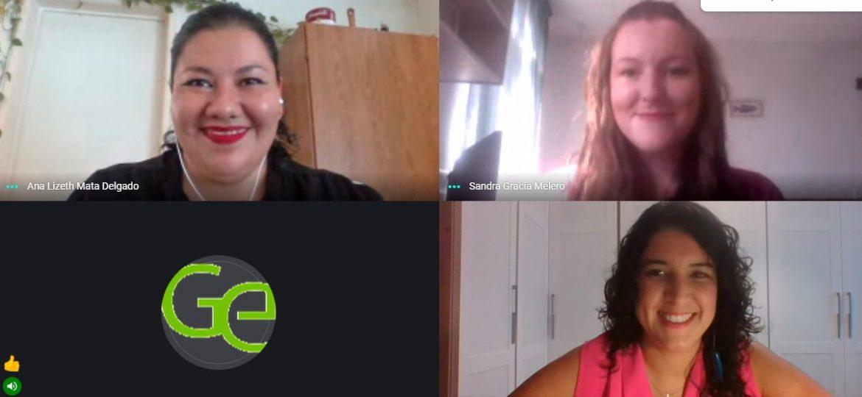 Ana Lizeth Mata, Sandra Gracia y Laura Luque.